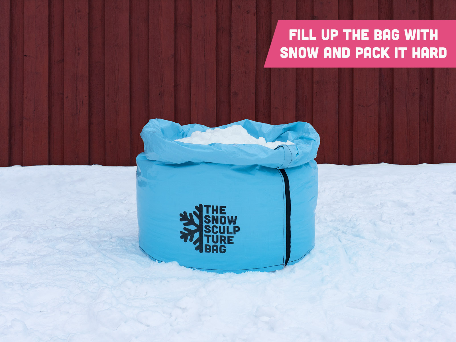 The Snow Sculpture Bag - Filling up the bag